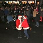 Dancing Santas!