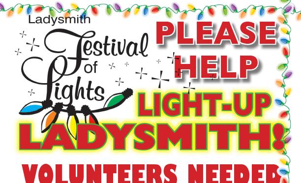 Help Light Ladysmith Up – Sun, Nov 4